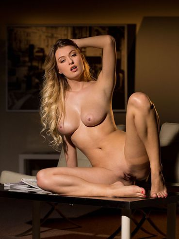 Bosomy Blonde Natalia Starr Stays On All Fours And Flashes The Hot Shaved Beaver