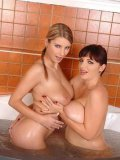 Is There Anything Better Than Two Lesbian Babes Taking A Bath? Joanna Bliss And Katerina Hartlov