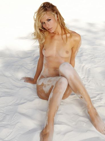 Crystal Klein Is A Perfect Blonde And She Is Getting Sand All Over Her Flawless Bod