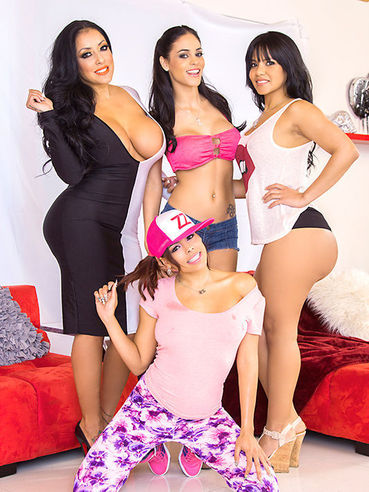 Kiara Mia, Luna Star, Rose Monroe And Jasmine Caro Form A Formidable Group Of Wild Latina Hoes.