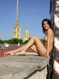 Naughty Nata Mpl Is Fooling Around And Happily Smiling All Naked Outdoor