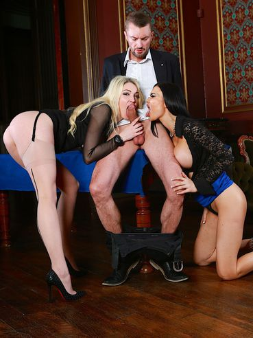 Sexy Ladies Tamara Grace And Jasmine Jae Enjoy In Sucking Dicks In Group Sex Session