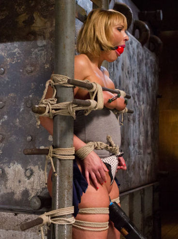 Mellanie Monroe Gets Hog Ties And Used Up Like A Whore While Her Slit Gets Stimulated In Bondage