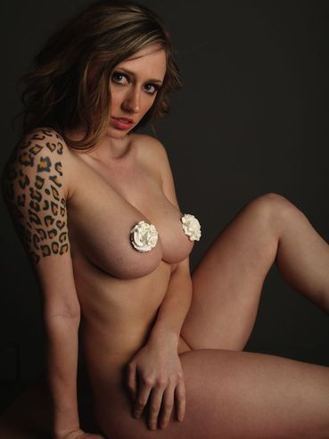 Naughty Girl  Lily Xo Shows Her Tattoos As Well As Her Big Boobs Covered In Cream