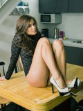 Vicious Babe Little Caprice Is On The Table Playing With Her Delicious Looking Cunt