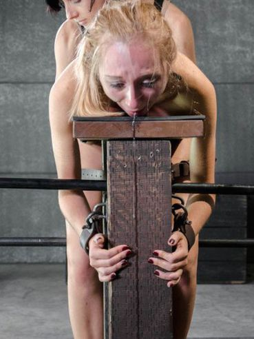 Blonde Emma Haize Slobbers And Gets Hardcore Spanked During Stimulation By Her Bondage Master.